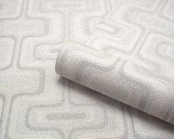 San Remo Retro Glitter Wallpaper Grey