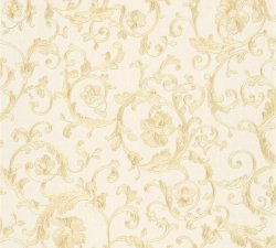 Versace Barocco Floral Wallpaper Cream