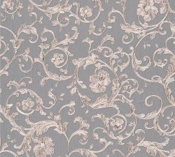 Versace Barocco Floral Wallpaper Grey