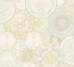 Versace Decorative Plates Cream