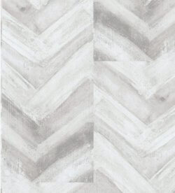 Acquabella Chevron Wood Panel Wallpaper Grey