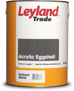 Leyland Trade Acrylic Eggshell Brilliant White 750ml