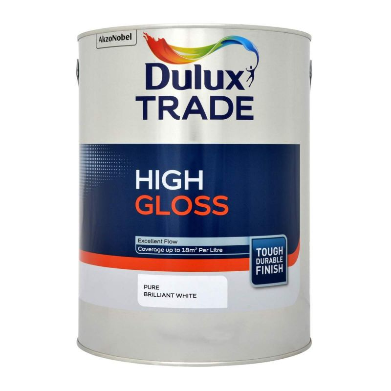 Dulux Trade High Gloss Paint - Pure Brilliant White