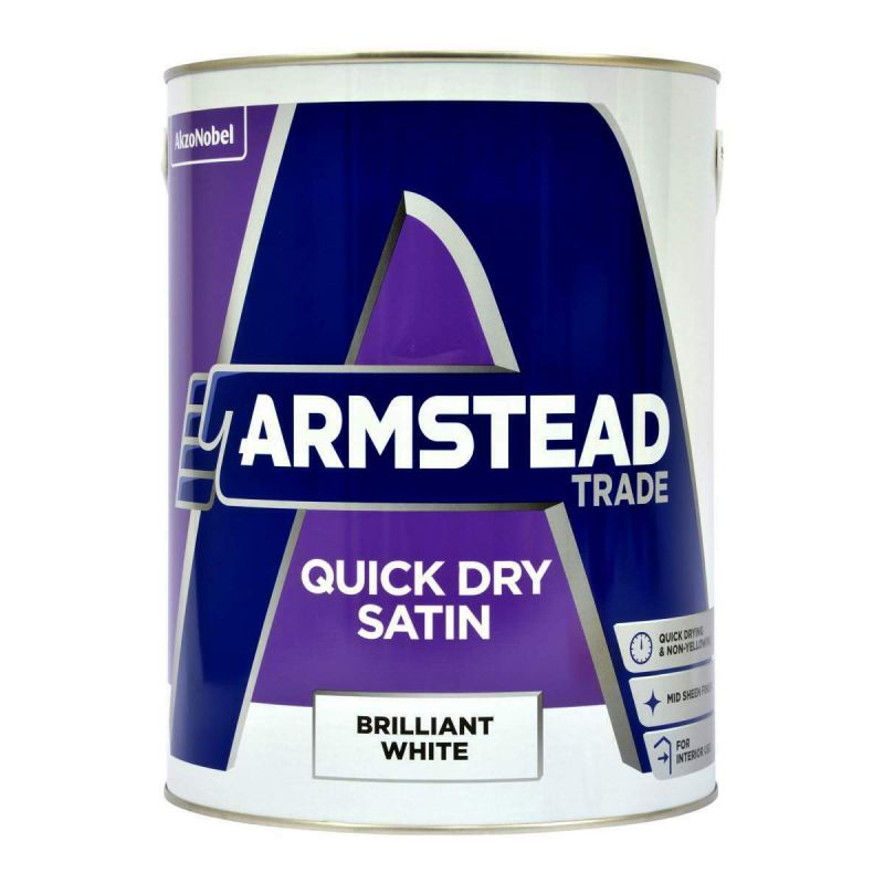 Armstead Trade Quick Dry Satin Paint - Brilliant White